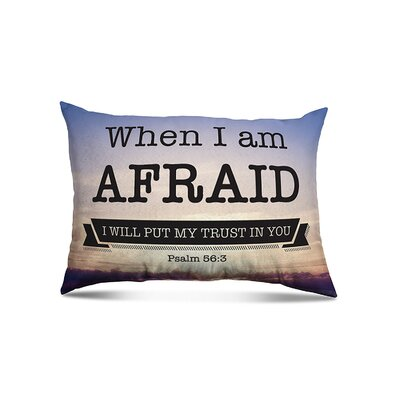 Bowens When Im afraid Eco-Friendly Religious Quotes and Sayings Lumbar Pillow