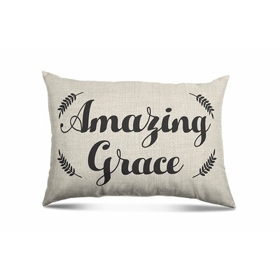 Dray Amazing Grace Eco-Friendly Religious Quotes and Sayings Throw Pillow