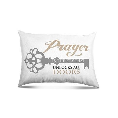 Ovalle Prayer Unlock Eco-Friendly Religious Quotes and Sayings Lumbar Pillow
