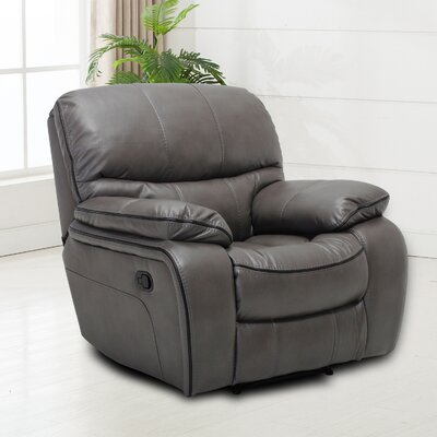 Hellen Manual Recliner Upholstery: Gray