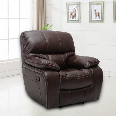 Hellen Manual Recliner Upholstery: Chocolate