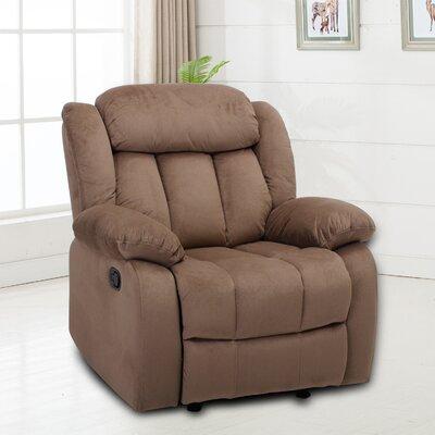 Kayleen Manual No Motion Recliner Upholstery: Light Brown