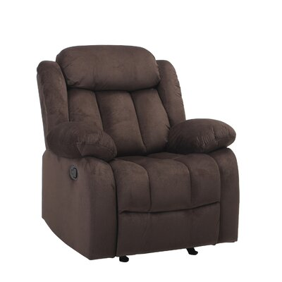 Kayleen Manual No Motion Recliner Upholstery: Chocolate