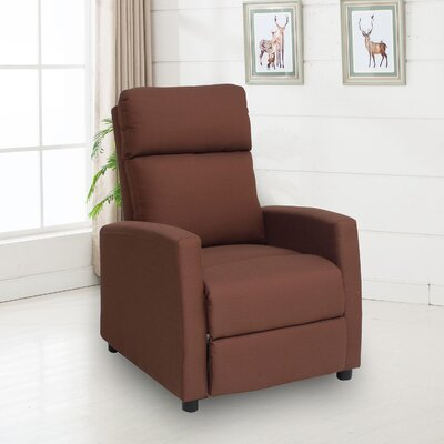 Balderrama Manual No Motion Recliner Upholstery: Chocolate