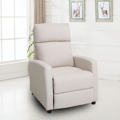 Balderrama Manual No Motion Recliner Upholstery: White