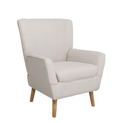 Gambill Armchair Upholstery: White