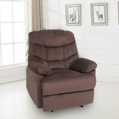 Huckaby Manual No Motion Recliner Upholstery: Chocolate