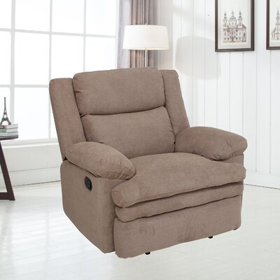 Damion Manual No Motion Recliner Upholstery: Smoke Gray