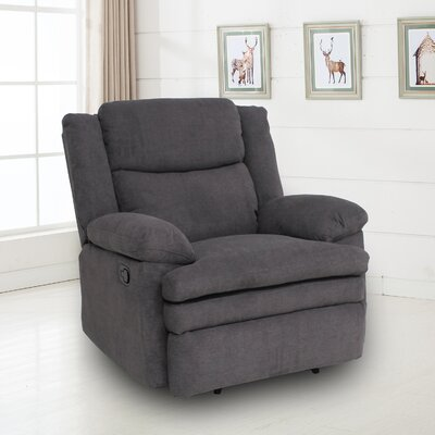 Damion Manual No Motion Recliner Upholstery: Gray