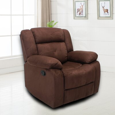 Terina Manual No Motion Recliner Upholstery: Chocolate