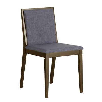 Brandy Upholstered Dining Chair Upholstery Color: Gray
