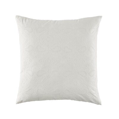 Gudruna Embroidered Floral Cotton Throw Pillow Color: Cream