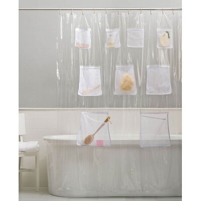 Vinyl Shower Curtain with Pockets Color: Super Clear