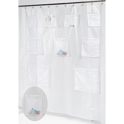 Vinyl Shower Curtain with Pockets Color: Frosted Clear