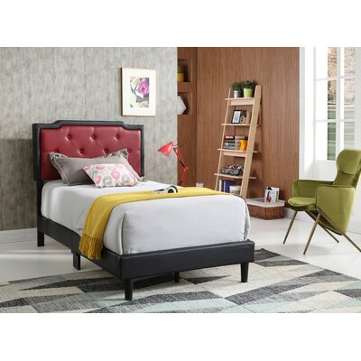 Indianola Upholstered Panel Bed Color: Gray/White, Size: Full/Double