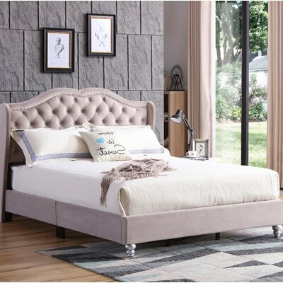 Colbourne Upholstered Panel Bed Size: Full/Double, Color: Beige