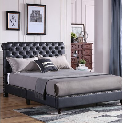 Chilcote Tufted Upholstered Bed Size: King