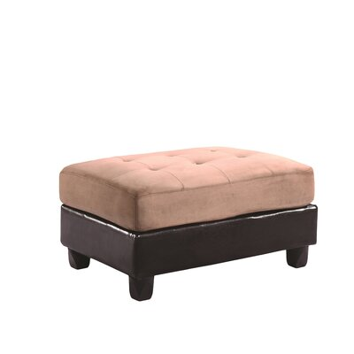 Childress Ottoman Ottoman Upholstery: Dark Brown