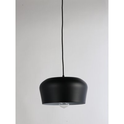 Brantner Industrial 1-Light Mini Pendant Finish: Black