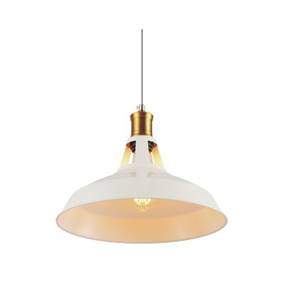 Brantner Industrial 1-Light Mini Pendant Finish: White