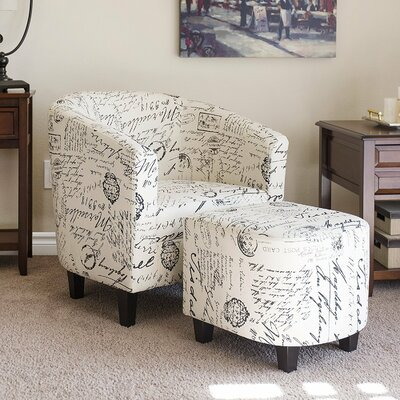 Abbottsmoor Barrel chair and Ottoman
