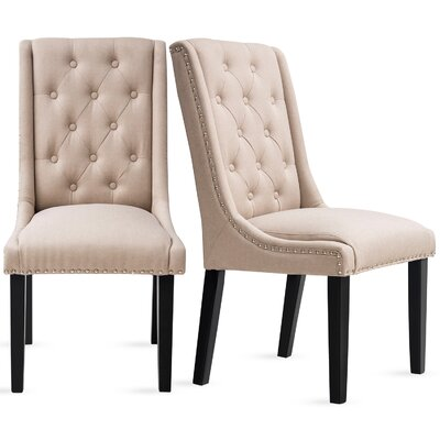 Robbe Upholstered Dining Chair Color: Beige