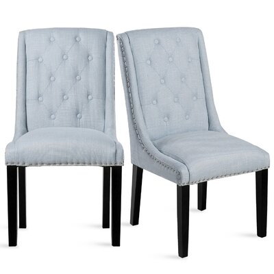 Robbe Upholstered Dining Chair Color: Blue