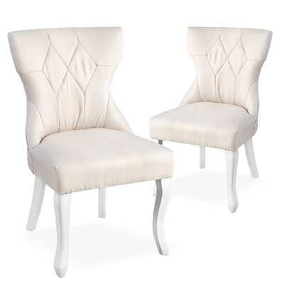 Robbe Parsons Upholstered Dining Chair Color: Beige