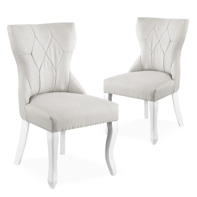 Robbe Parsons Upholstered Dining Chair Color: Gray