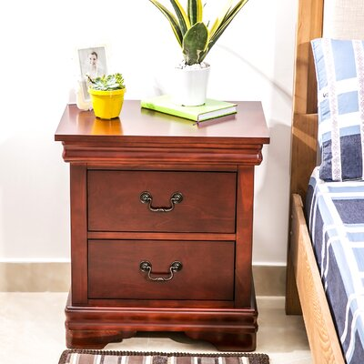 Drennen 2 Drawer Nightstand Color: Mahogany