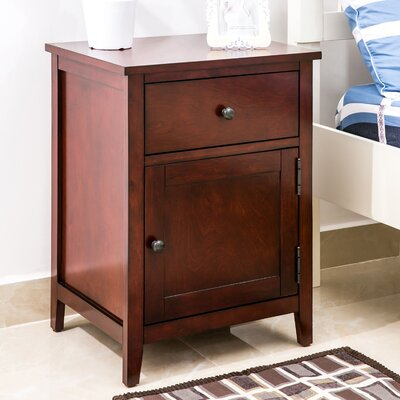 Chantay 1 Drawer Nightstand Color: Cherry