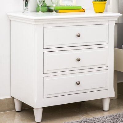 Chantrell 3 Drawer Nightstand Color: White