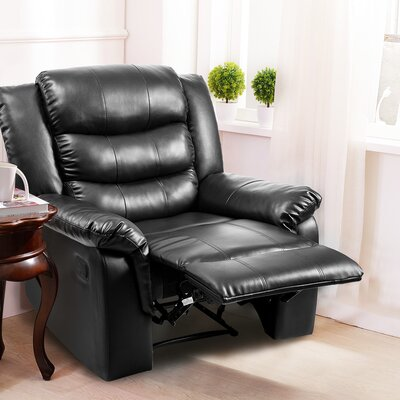 William Street Manual Recliner Upholstery: Black