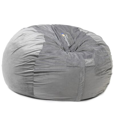 Bean Bag Chair Upholstery: Gray, Size: 42 H x 59 W x 59 D