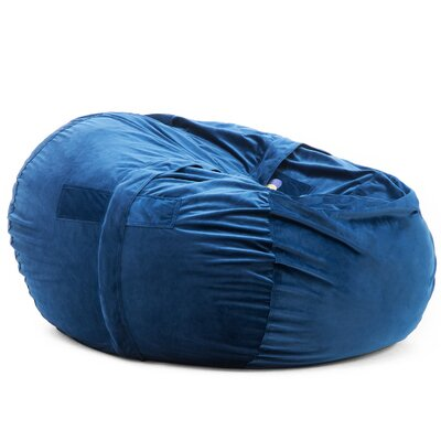 Bean Bag Chair Upholstery: Blue, Size: 35 H x 35 W x 35 D