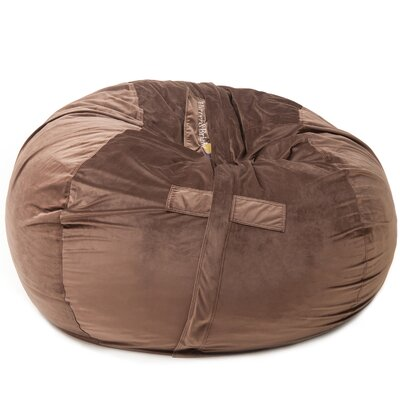Bean Bag Chair Upholstery: Brown, Size: 42 H x 59 W x 59 D