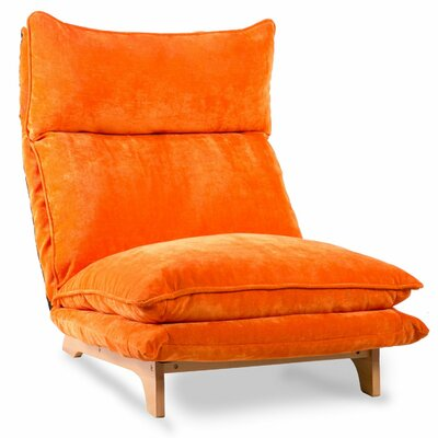 Monsour Adjustable Folding Sofa Upholstery: Orange
