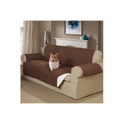 Reversible Sofa Slipcover Color: Brown