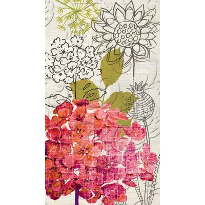 Sketch Floral Embossed Paper Guest Towel
