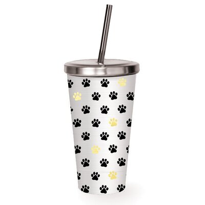Paw Prints 16 oz. Stainless Steel Tumbler 2SSC010