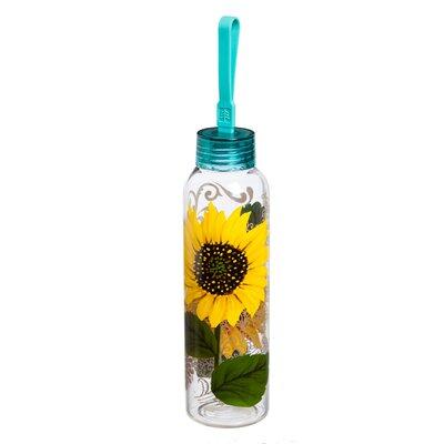 Adreanna Sunflower 18 oz. Glass Water Bottle AGTG4471 43307201