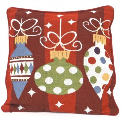 Tapestry Christmas Ornament Pillow Cover