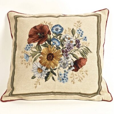 Halls Tapestry Field Flowers Pillow Cover