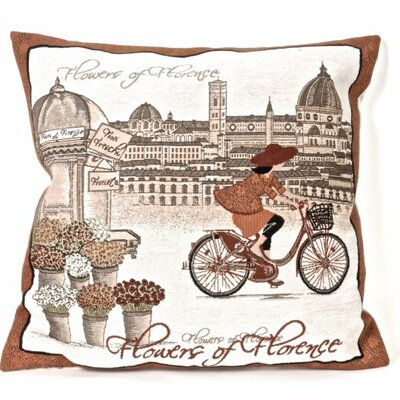 Bonilla Tapestry Flowers of Florence Pillow Cover