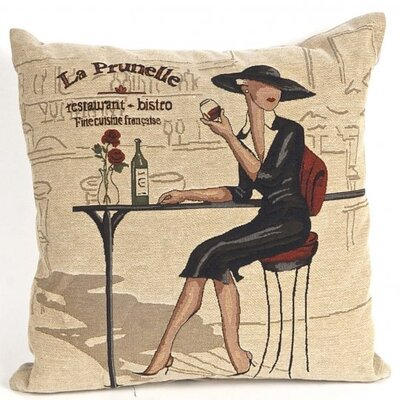 Bonilla Tapestry La Prunelle Restaurant Bistro Pillow Cover