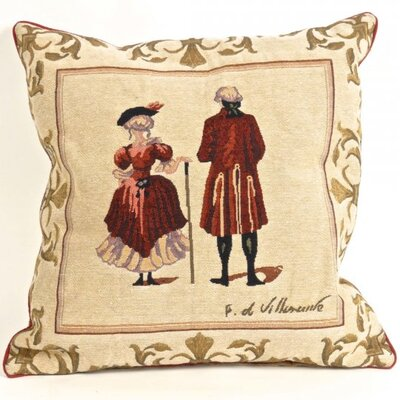 Weinmann Tapestry Lady and Gentleman Pillow Cover