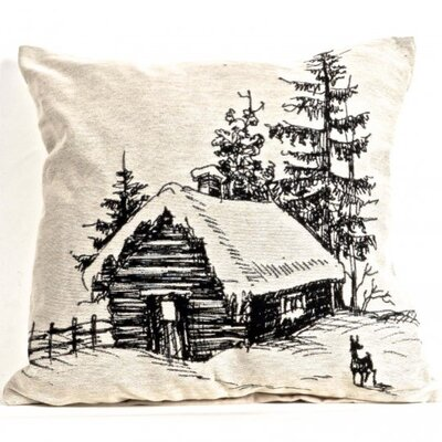 Aliff Tapestry Log House Pillow Cover