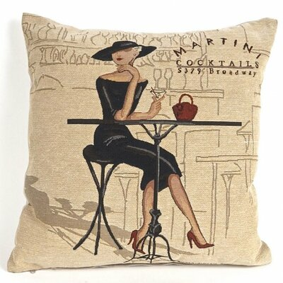 Paddington Tapestry Martini Cocktails Pillow Cover