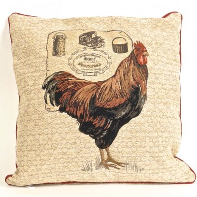 Halls Tapestry Rooster Pillow Cover