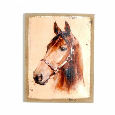 'Horse' Graphic Art Print on Canvas